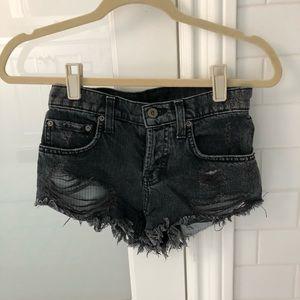 Carmar black jean shorts